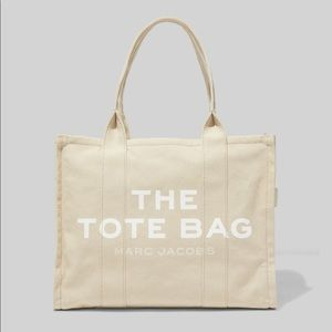 Marc Jacobs Traveler Canvas Tote Bag in Beige